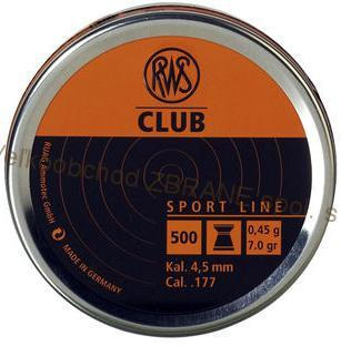RWS diabolo Club (4,5mm / 500ks)